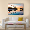 Tropical Sunset at Moorea, French Polynesia Multi panel canvas wall art