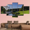 Autumn at Stourhead Gardens in Wiltshire multi panel canvas wall art