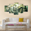 young soldiers with guns Multi Panel Canvas Wall Art
