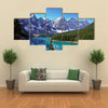 View Of A Glacier Covered By Snow On The Lake Moraine Near Lake Louise, Canada, Multi Panel Canvas Wall Art