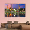 Blue mosque in Istanbul in Turkey Multi panel canvas wall art