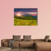 Colorful summer landscape in the mountains multi panel canvas wall art