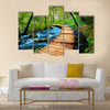 Deep forest stream. Crystal clear water. Plitvice lakes, Croatia Multi Panel Canvas Wall Art