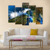 Zambia and Zimbabwe Victoria Falls or is the widest waterfall in the world Multi panel canvas wall art