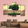 Save the Earth, abstract environmental design multi panel canvas wall art