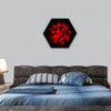 EXPLOSION in deep space hexagonal canvas wall art