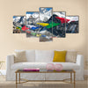 View of everest from gokyo with prayer flags – Nepal Multi panel canvas wall art