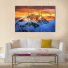 Evening colored view of Everest from Kala Patthar Multi panel canvas wall art