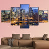 Chicago downtown and Chicago River with bridges during wall art