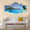 Landscape with swimming pool in Cadlao island multi panel canvas wall art