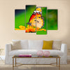 Beautiful butterfly on flower in public park Multi Panel Canvas Wall Art