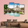 View on Tiber and St Peter Basilica in Vatican multi panel canvas wall art