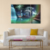 Futuristic Alien City with Quasar Star Multi Panel Canvas Wall Art