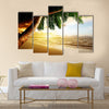 Sunrise on Caribbean beach Multi panel canvas wall art