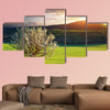 Tree in mountain meadow, Nature composition multi panel canvas wall art