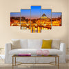 Night view at St Peter s Cathedral Multi panel canvas wall art