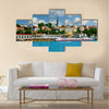 View on Orthodox Cathedral Church over river Sava Multi panel canvas wall art