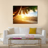 Beautiful Sunrise on Caribbean beach Multi panel canvas wall art