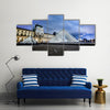 Louvre Museum and Pyramid at night Multi Panel Canvas Wall Art