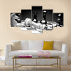 Black and White Chess board multi panel canvas wall art