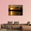 Sunset Zambezi Zimbabwe Victoria Falls Multi panel canvas wall art