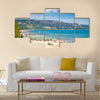 Golden sands beach Zlatni Piasci on Black coast in Bulgaria Multi panel canvas wall art