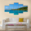 View Of A Bridge Connecting Twotropical Islands In Colimbia, Multi Panel Canvas Wall Art