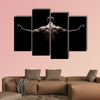 Close Up of Young Sports Man isolated on black background Multi panel canvas wall art