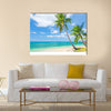 Tropical beach with coconut palm Multi panel canvas wall art