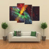 Black Hole in Cosmos - Rays of Hot Plasma Radiates out from the Event Multi Panel Canvas Wall Art