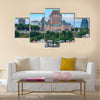 Quebec City skyline over river Multi panel canvas wall art