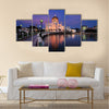 Bandar Seri Begawan is the majestic Sultan Omar Ali Saifuddien Mosque Multi panel canvas wall art