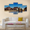 The majestic Sultan Omar Ali Saifuddien Mosque of Brunei lake the surrounding Multi panel canvas wall art
