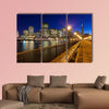 Romantic view of San Francisco at night from Pier 7 multi panel canvas wall art