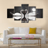 Romantic swan during valentine's day Multi panel canvas wall art