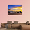 Sunset on Khao Lak beach in Thailand multi panel canvas wall art