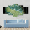 Green planet Multi Panel Canvas Wall Art