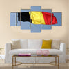 German National Flag On The Flag Pole Multi Panel Canvas Wall Art