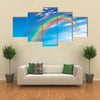 The Flying Colors Of The Rainbow In A Rainy Weather, Multi Panel Canvas Wall Art