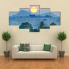 Sunrise in the jungles of Sri Lanka Multi Panel Canvas Wall Art