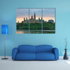Ottawa city skyline at sunrise in the morning over river multi panel canvas wall art