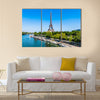The Eiffel tower in the city of Paris in France Multi panel canvas wall art