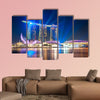 Marina Bay Sands Resort at night multi panel canvas wall art