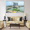 Aerial view on Marina Bay Floating Platform Multi panel canvas wall art