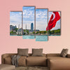 View of Dolmabahce area from the Bosporus multi panel canvas wall art