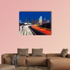Dallas downtown skyline at night multi panel canvas wall art