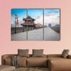 Ancient tower at dusk in Xian city wall, China multi panel canvas wall art