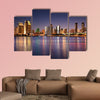 San Diego Skyline Long Exposure Multi panel canvas wall art