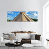 Mayan pyramid of Kukulcan El Castillo in Chichen Itza, panoramic canvas wall art