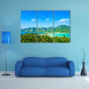 View tropical island with resorts Phi-Phi island, Krabi Provin Thailand multi panel canvas wall art